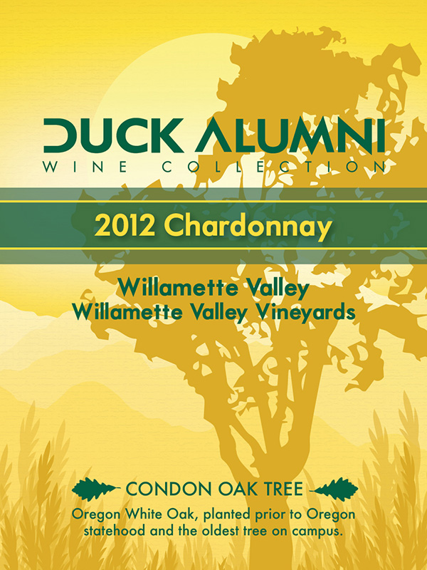 Willamette Valley Vineyards 2012 Chardonnay - Label